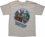 Guardians of the Galaxy Team Circle Youth T Shirt