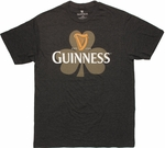 Guinness Clover Harp Heather Charcoal T Shirt Sheer