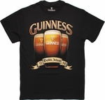 Guinness Foamy Glass Trio T Shirt