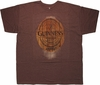 Guinness Oval Wood Logo Urban T Shirt