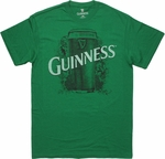 Guinness Pint Script Green T Shirt Sheer