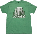 Guinness Two Bottles Green T Shirt Sheer
