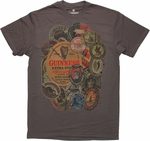 Guinness Various Label Collage T Shirt