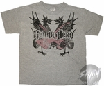 Guitar Hero Dragons Cross Juvenile T-Shirt
