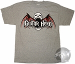 Guitar Hero Skull Bat T-Shirt