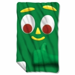 Gumby Big Face Fleece Blanket