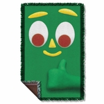 Gumby Big Face Throw Blanket