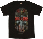 Guns N Roses Skeleton T Shirt