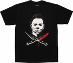 Halloween 2 Myers Knives T-Shirt