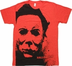 Halloween Face T-Shirt Sheer