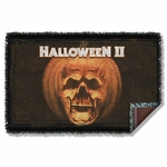 Halloween II Poster Sub Throw Blanket