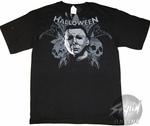 Halloween Skulls Shoulder T-Shirt