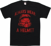 Halo Always Wear a Helmet T Shirt