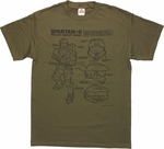 Halo Assault Armor Schematic T-Shirt