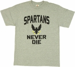 Halo Spartans Never Die T Shirt