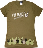 Happy Bunny I'm Bad Baby Tee