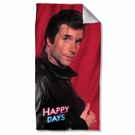 Happy Days Red Fonz Towel