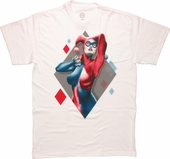 Harley Quinn In Diamond White T Shirt