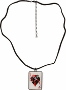 Harley Quinn Queen Card Necklace