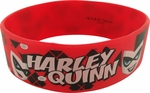 Harley Quinn Red Rubber Wristband