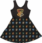 Harry Potter Hogwarts A Line Scoop Neck Dress