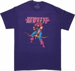 Hawkeye Name Purple T Shirt