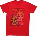 He Man and Skeletor Bolt Split T-Shirt