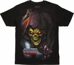 He Man Skeletor Close Up T Shirt Sheer