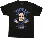 He Man Skeletor Crossed Staffs T Shirt Sheer