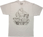 He Man Trio Sketch T Shirt Sheer