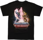 He Man vs Skeletor Bolt T Shirt