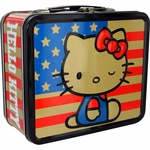Hello Kitty American Flag Lunch Box