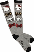 Hello Kitty Bow Ties Skulls Socks