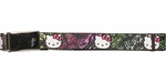 Hello Kitty Bows Gray Stripes Mesh Belt
