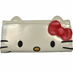 Hello Kitty Face Clutch Wallet
