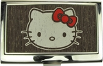 Hello Kitty Face Distressed Card Case