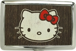 Hello Kitty Face Distressed Large Card Case