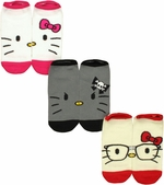 Hello Kitty Faces 3 Pair Socks Set
