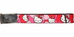 Hello Kitty Faces Hair Bows Wide Mesh Belt