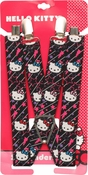 Hello Kitty Faces Lines Stars Black Suspenders