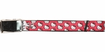 Hello Kitty Faces Polka Dots Red Mesh Belt