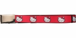 Hello Kitty Faces Red Mesh Belt