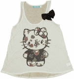 Hello Kitty Floral Ladies Tee