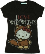 Hello Kitty Love Werewolves Baby Tee