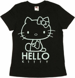 Hello Kitty Outline Ladies Tee