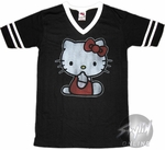 Hello Kitty Vneck Stripes Baby Tee