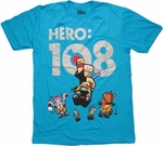 Hero 108 Traveling Chung Blue T Shirt