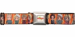 Hetalia Chacter Faces Orange Stripes Seatbelt Belt