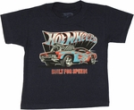 Hot Wheels Built Speed Navy Toddler T Shirt