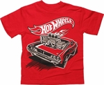 Hot Wheels Red Hot Rod Juvenile T Shirt